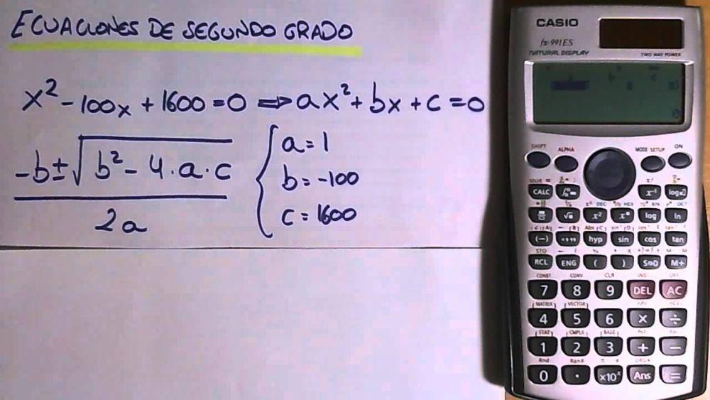 Calculadora fórmula general